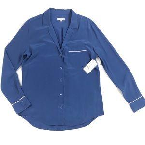 NWT Equipment Kiera 100% silk blouse